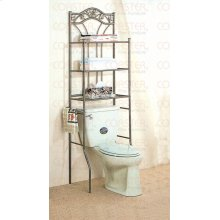 SHELF/BATHROOM LEAF DESI GN MTL NICKEL BRNZ/F