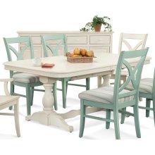 Hues Rectangular Trestle Dining Table