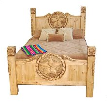 Queen Texas Rope Star Bed (queen)