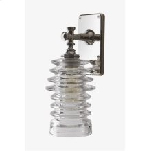 Watt Wall Mounted Single Arm Sconce with Ribbed Glass Shade STYLE: WLLT02