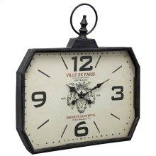 Metal & Glass Wall Clock  29in X 28in X 3in