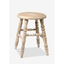 (LS) Promenade Antique Stool (13.75X13.75X18.5)