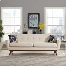 Engage Upholstered Fabric Sofa in Beige Product Image