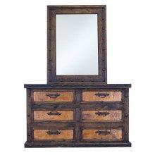 Dresser W/Copper Drawers