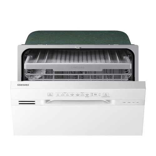 Front Control Dishwasher with Hybrid Interior in White