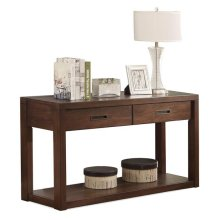 Riata Console Table Warm Walnut finish