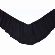 Solid Black Queen Bed Skirt 60x80x16