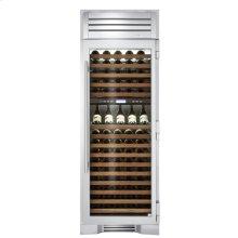 30 Inch Stainless Door Wine Column - Left Hinge Stainless Glass
