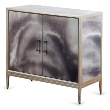 Grey Black and Cream Smokey High Gloss Cabinet  33in X 34in X 17in  Two Door Cabinet