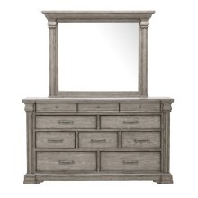 Madison Ridge Framed Dresser Mirror in Heritage Taupe