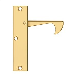 "Edge Pulls-Thin, 4 1/4""x 1""x 3/8"" - PVD Polished Brass Product Image"