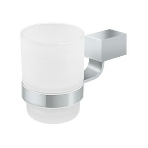 Frosted Glass Tumbler Set ZA Series - Polished Chrome Product Image