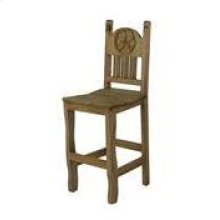 """30"""" Barstool W/Wood Seat and Star"""