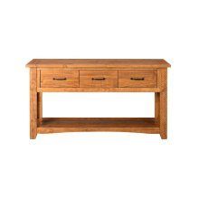 Rustic Collection Console Table, Honey Tobacco