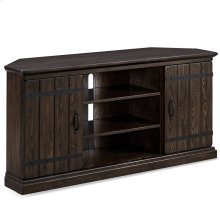 "Hunt Club Rustic Oak 55"" Corner TV Console #89585"