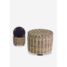 Palm Isle Round storage ottoman