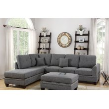 Grey Reversible Chaise Sectional