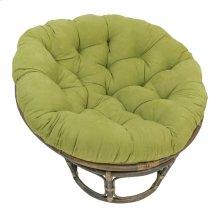 Bali 42-inch Rattan Papasan Chair with Microsuede Fabric Cushion - Walnut/Mojito Lime