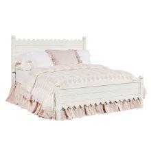 Jo's White Scallop Queen Bed