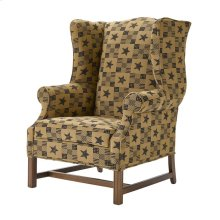 High Back Chair with Oak Chippendale Base