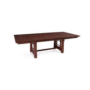 MaKayla Trestle Table, Solid Top