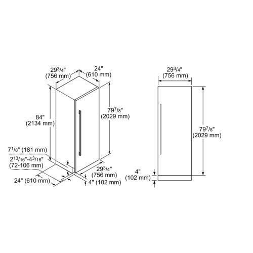 Benchmark® Built-in Fridge
