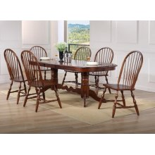 DLU-ADW4296-C30-CT7PC  7 Piece Double Pedestal Extendable Dining Set