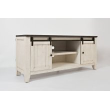 """Madison County 60"""" TV Console - Vintage White"""