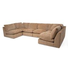 Marilyn 6pc Armless Chair Sectional