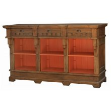 Hyde Low Bookcase with Drawers