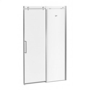 """48"""" X 77"""" Sliding Shower Doors With Clear Glass - Chrome Product Image"""