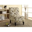 ACCENT CHAIR - BROWN / GOLD FLORAL TRADITIONAL FABRIC Product Image