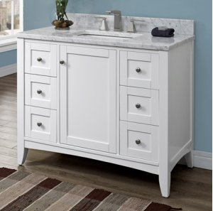 "Shaker Americana 42"" Vanity - Polar White Product Image"