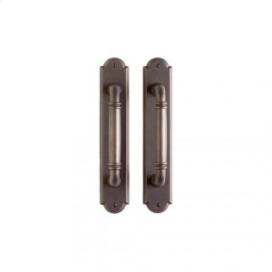 """Arched Pull/Pull Set - 2 1/2"""" x 13"""" Silicon Bronze Brushed Product Image"""