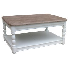 Newport Rectangle Coffee Table - Wht/rw