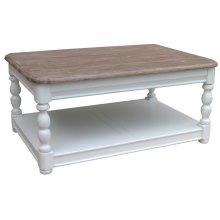 Newport Rectangle Coffee Table - Wht/rw