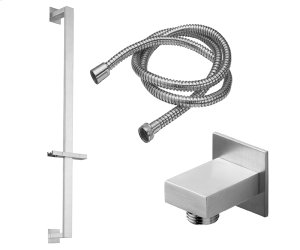 Slide Bar Handshower Kit - rectangle Handle With Rectangle Base Product Image