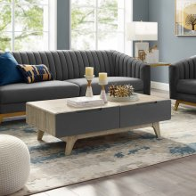 "Origin 47"" Coffee Table in Natural Gray"