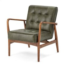 NK Verde Leather & Wood Accent Chair