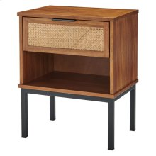 Caine Rattan Night Stand/Side Table, Brown