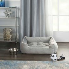 "Pet Beds Bt901 25"" X 21"" X 7"" Grey Pet Bed"