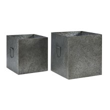 Metal Square Kinlen Boxes - Set of 2