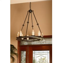 Nova 8 Light Iron Chandelier