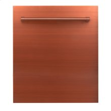 "24"" Dishwasher Panel in Copper with Traditional Handle (DP-C-H-24)"