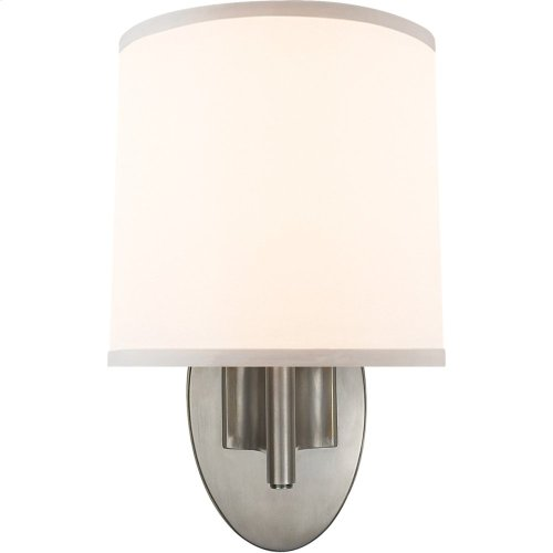 Visual Comfort BBL2038PWT-S Barbara Barry Graceful Ribbon 1 Light 7 inch Pewter Finish Decorative Wall Light