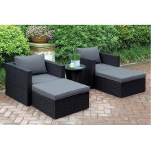 404 / Liz.p28- 5PC OUTDOOR PATIO SOFA SET [P50146(2)+P50144(2)+P50261(1)]
