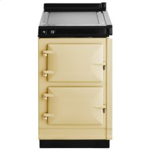 """AGA Hotcupboard 20"""" Electric Cream with Stainless Steel trim"""