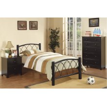 F9016T / Cat.19.p103- TWIN BED BLK MW F4326/7