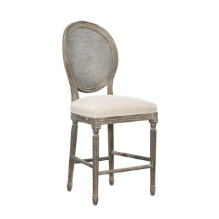 Spenzia Counter Stool, Rattan Back