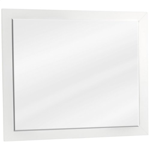 """33"""" x 28"""" White mirror with beveled glass"""